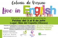 Colonia de Verano – Live in English